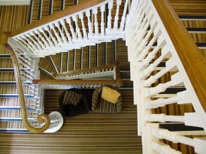 Das Treppenhaus in der Jugendherberge von Penzance