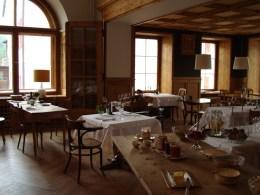Frühstück im Hotel Piz Linard