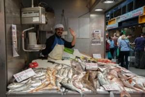 Frischer Fisch auf dem Mercado de Atarazanas