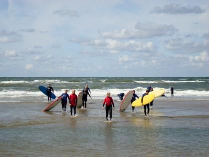 Surfen bei Bloemendaal aan Zee