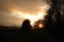 Sonnenuntergang bei Eschlkam