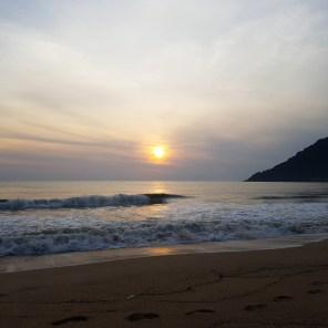 Unschlagbar, der Sonnenaufgang morgens um 7 Uhr
