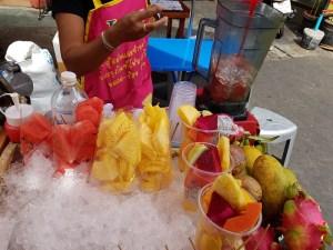Fruitshake-Stand auf der Khao San