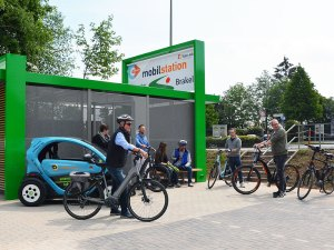 Bike and Park Mobilstation (Foto © Stadt Brakel)