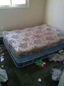 Disgusting tenant bedroom