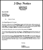 3 day eviction notice form