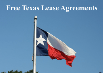Free Texas Residential Rental Lease Agreement In Pdf Word
