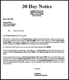 30 Day Eviction Notice