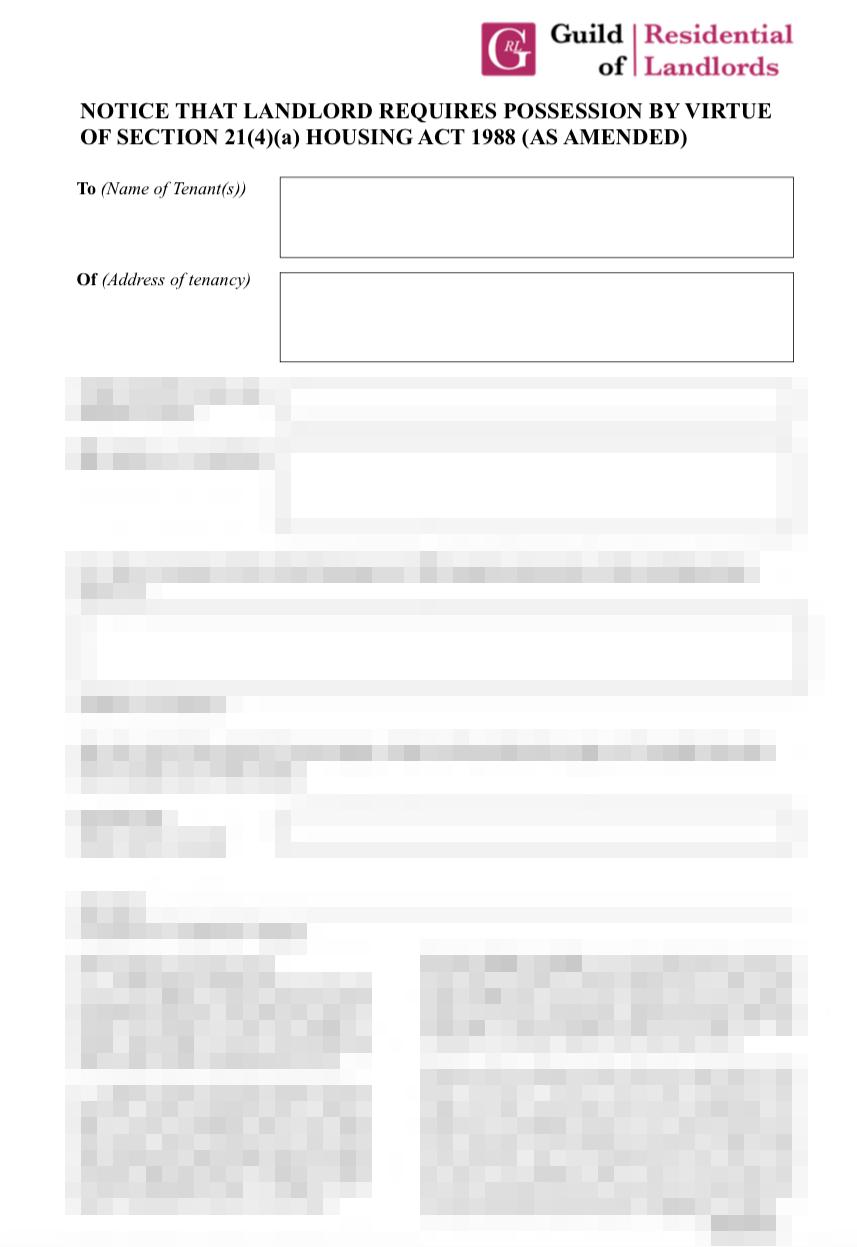 section 21 notice | GRL Landlord Association