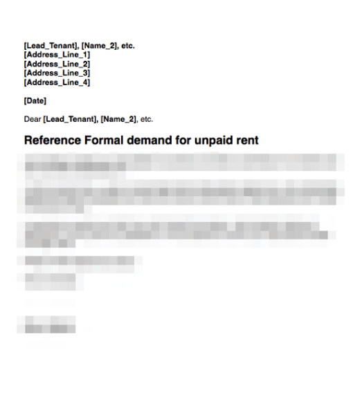Rent demand from tenant letter 2