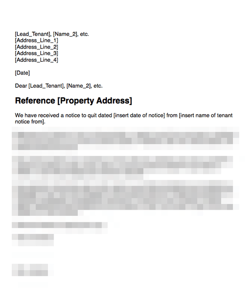 Notice from one tenant where joint