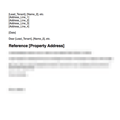 Notice to quit from tenant accepted