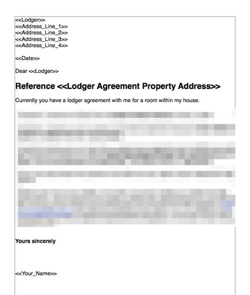 This lodger agreement template may be used by the licensor to grant the licensee the right to occupy a room in a domestic property for a defined length of. Terminate A Lodger Agreement Where There Is A Breach Grl Landlord Association