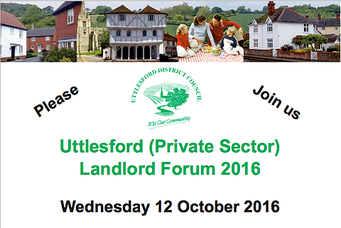Uttlesford Council Holding A Landlord Forum October 2016