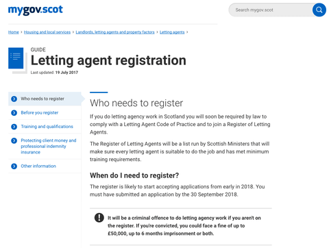 Time Running Out for Rogue Letting Agents in Scotland