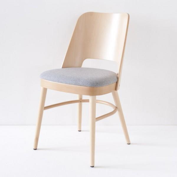 chaise vintage naturelle tissu feutre galet