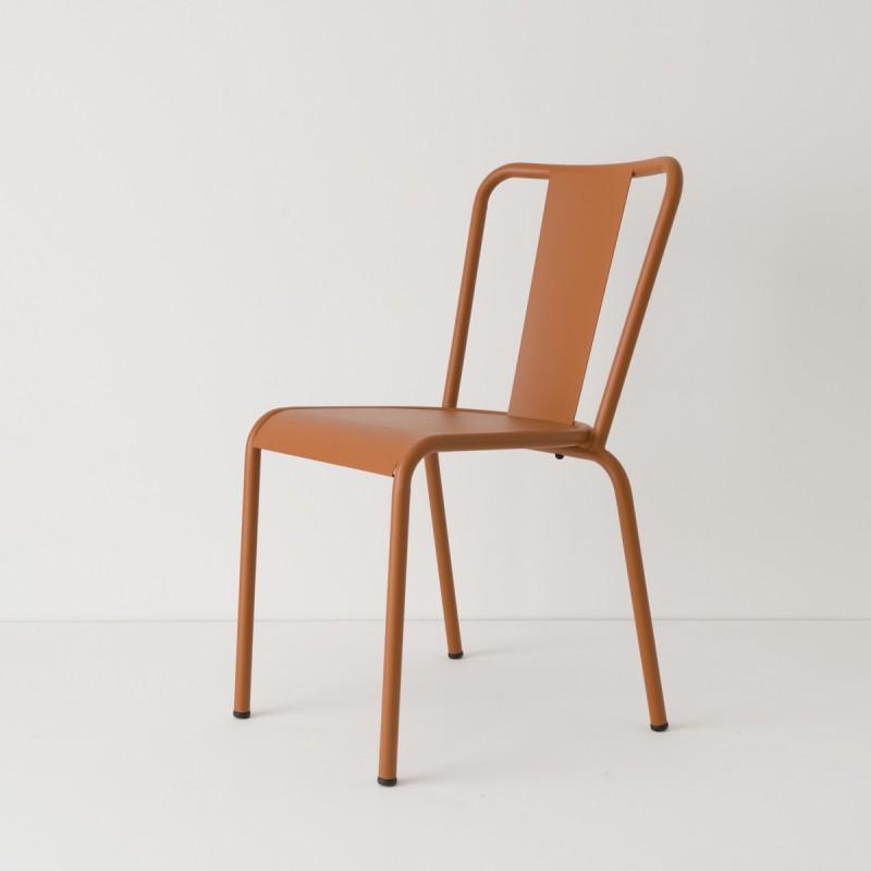 chaise de jardin metal caramel