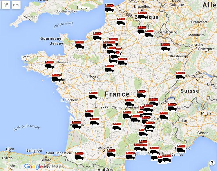 Carte interactive : les spécialistes Land Rover en France, en Belgique et en Suisse