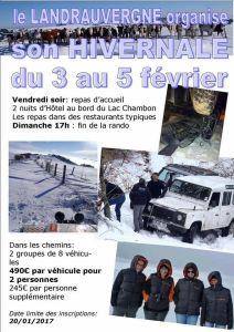 Hivernale du Landrauvergne 2017 @ Chambon | Saint-Nectaire | Auvergne-Rhône-Alpes | France