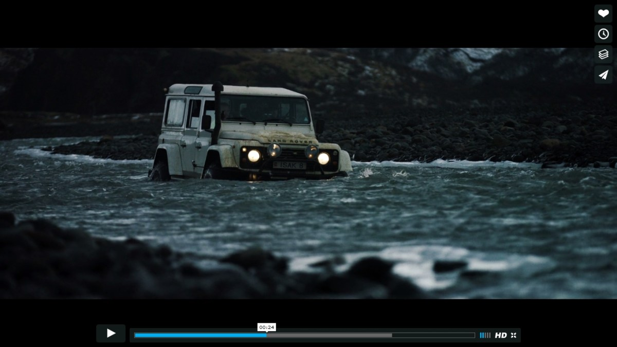 Vidéo : un bel hommage au Defender en Islande