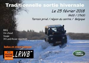Sortie hivernale LRWB (Belgique) @ Binche | Binche | Wallonie | Belgique