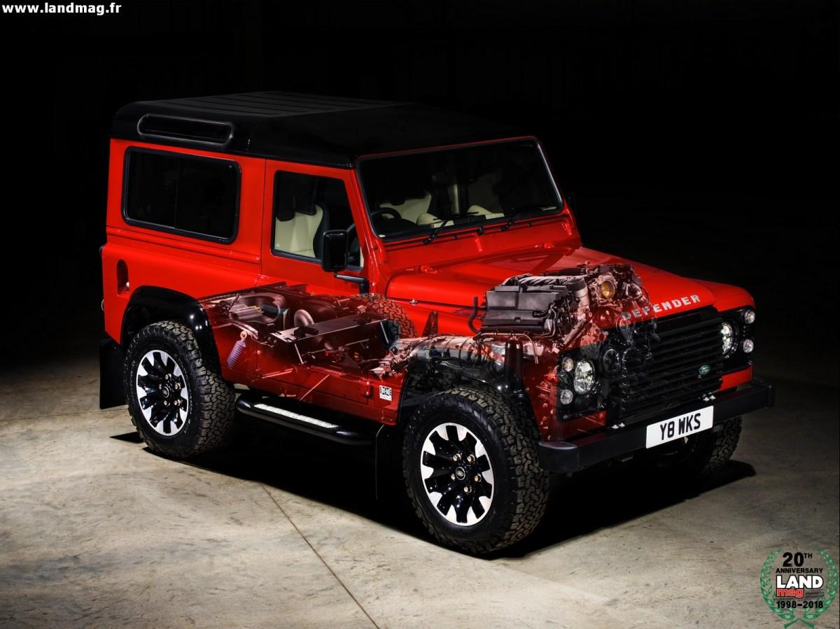 Un incroyable Defender V8 de 405 chevaux pour les 70 ans de Land Rover !