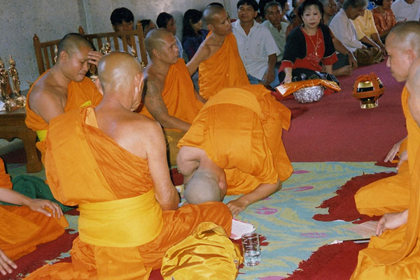 Ordination of a monk
