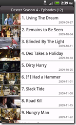 xbmc remote tv season expanded view