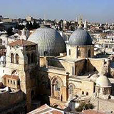 Holy Sepulchre built over Calvary by St. Helena in 4th century ACE