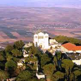 Basilica of the Transfiguration on Mount Tabor (aerial view)