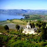 Church of the Beatitudes aerial view