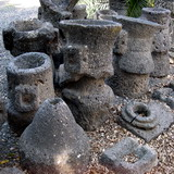 Capernaum: Basalt millstones for grinding wheat into flour