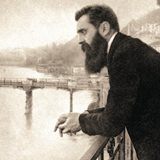 Theodor Herzl founder of the Zionist movement, in Basle