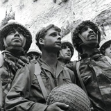 Israeli paratroops at the Western Wall - June 1967 Six Day War