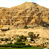 Mount of Temptation viewed from Jericho