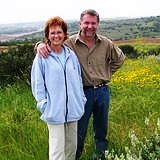 Brenda & Gary enjoying springtime on Golan Heights
