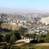 Jerusalem panorama from where Abraham saw Mount Moriah