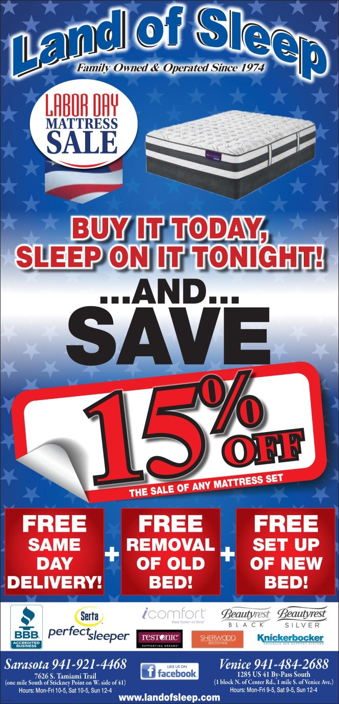 Stop By Land Of Sleep This Weekend For Our Labor Day Mattress Get Free Same Delivery And Set Up Your New Removal Old