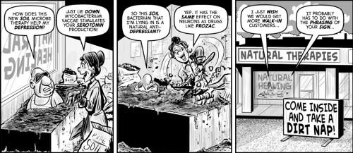 """Soil Treatment"" cartoon by Brent Brown"