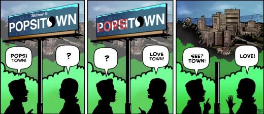 """Public Display"" cartoon by Brent Brown"