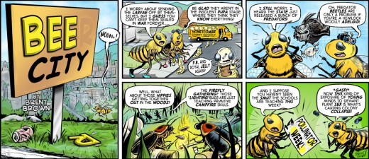 Bee City #1 by Brent Brown