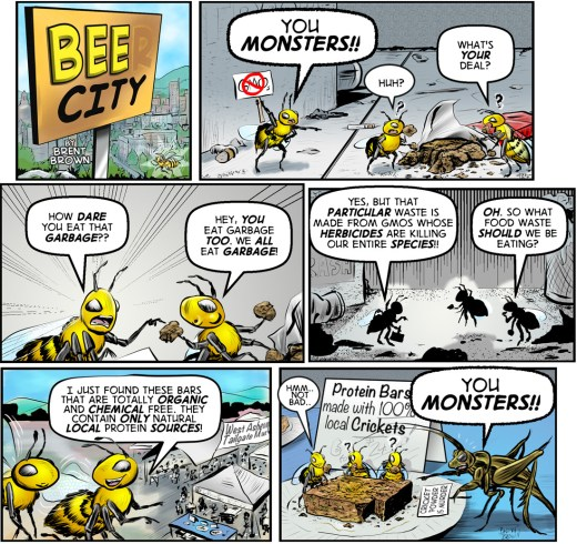 Bee City 3- vertical by Brent Brown