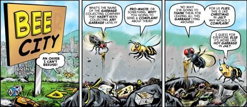 Bee City 4 cartoon by Brent Brown