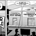 """Overhead"" - cartoon by Brent Brown"