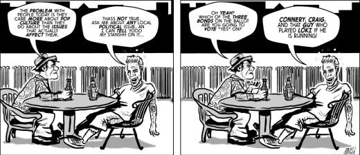 """""""Mis-Enfranchised"""" cartoon by Brent Brown"""