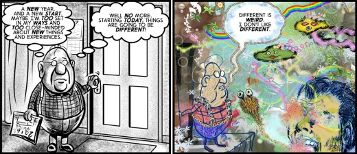 """""""New Clear Day"""" cartoon by Brent Brown"""