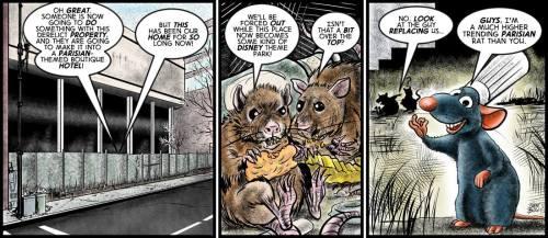 """C'est La Vermine"" cartoon by Brent Brown"