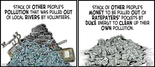 """""""Cleaned Out"""" cartoon by Brent Brown"""