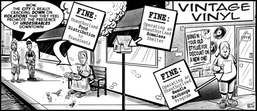 """""""Everything is Fine(d)"""" cartoon ©2018 - Brent Brown"""