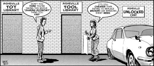 """Smash and Borrow"" cartoon ©2018 - Brent Brown"